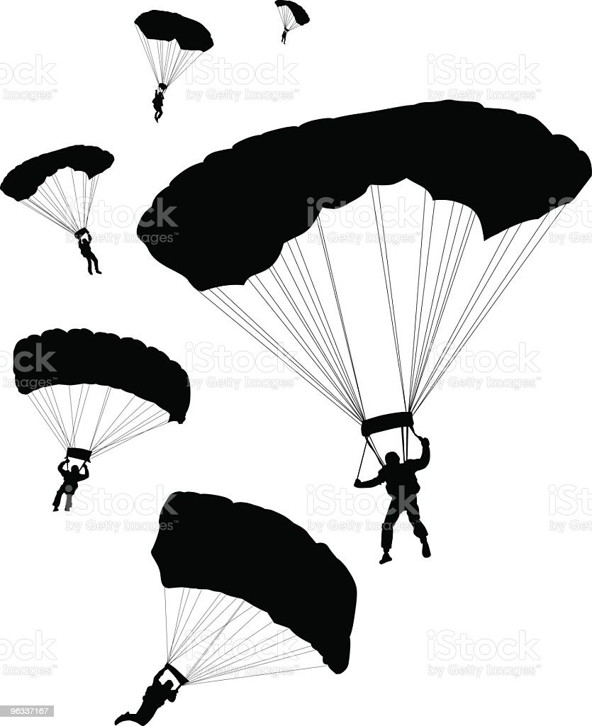 Parachuters ~ Vector royalty-free parachuters vector stock vector art & more images of adventure