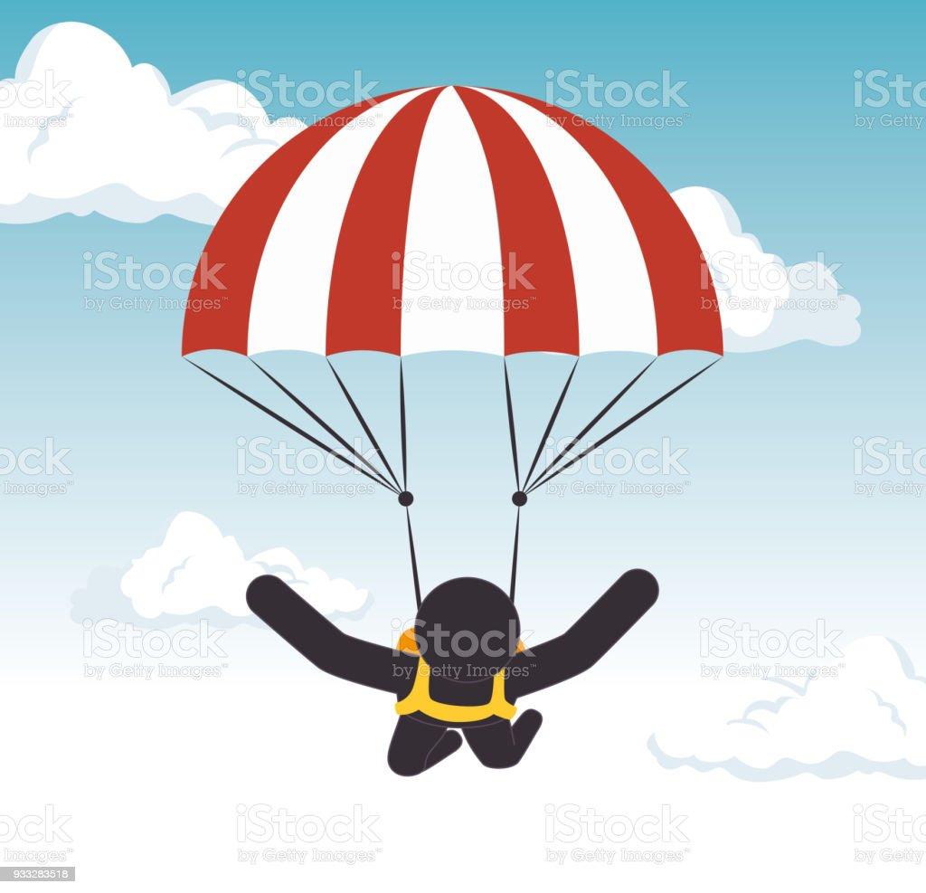 Ilustración de Gráfico De Deporte Extremo De Paracaidismo Hombre y ...