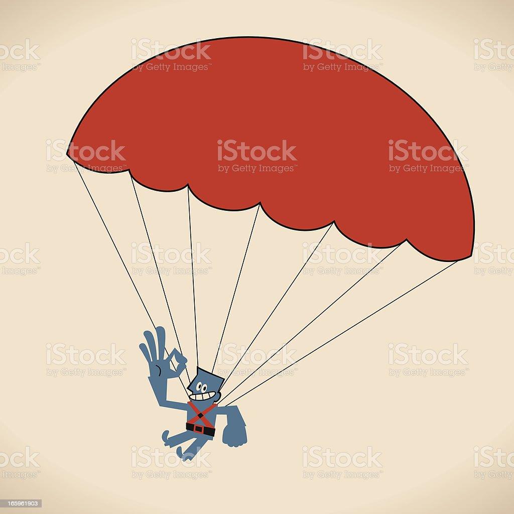 Parachuting Man royalty-free stock vector art
