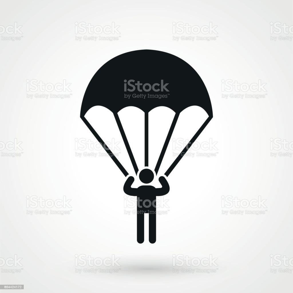 Parachutist icon. vector art illustration