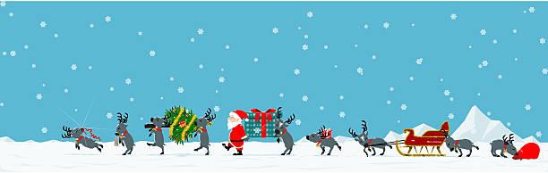 parade of santa - geçit töreni stock illustrations