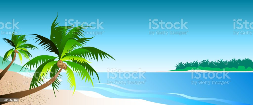 Paradise Island royalty-free stock vector art