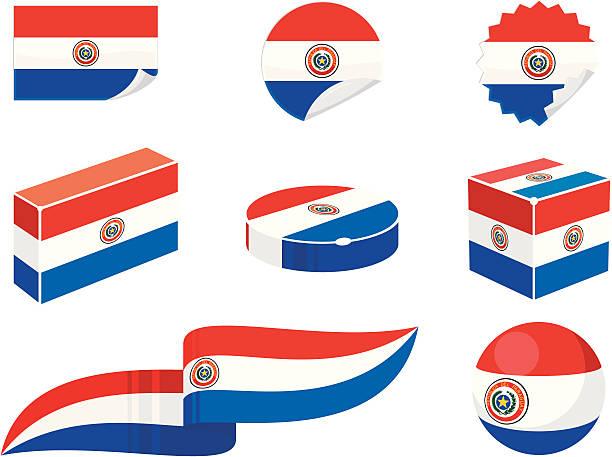 Paraguay elementos de diseño - ilustración de arte vectorial