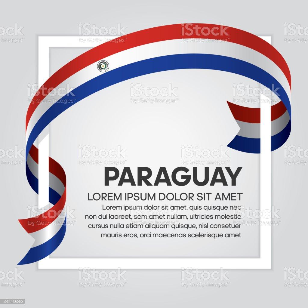 Fondo de bandera de Paraguay - ilustración de arte vectorial
