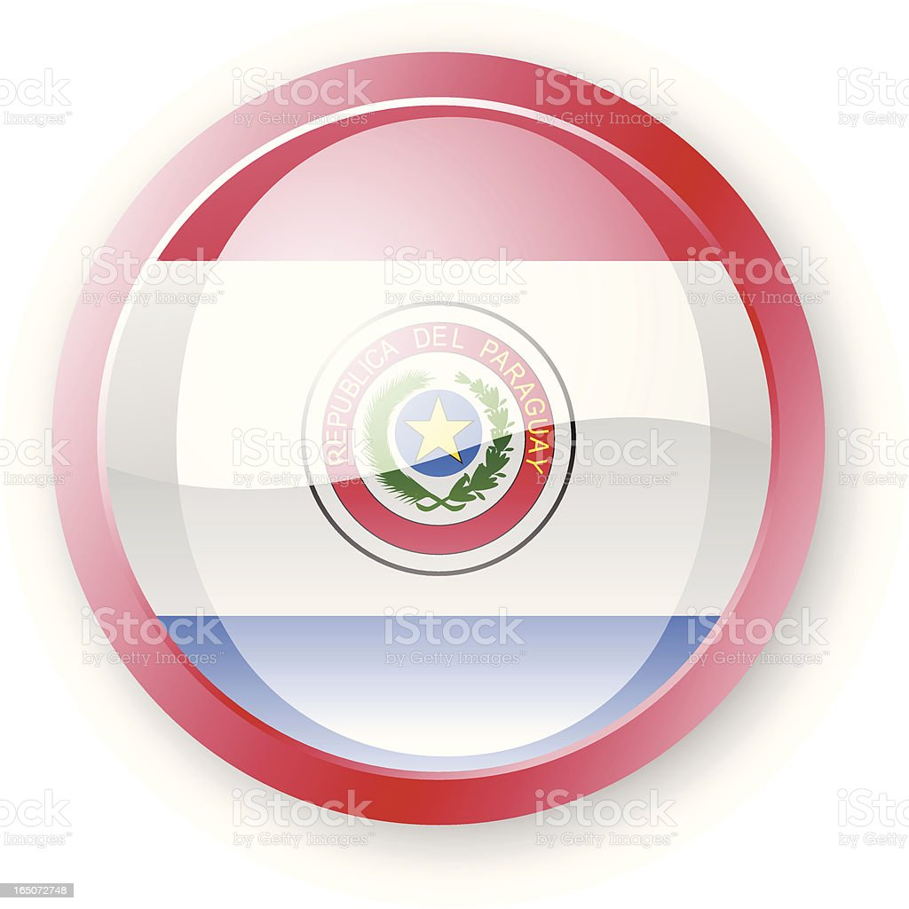 Paraguay Flag Icon royalty-free stock vector art