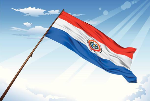 Paraguay bandera - ilustración de arte vectorial