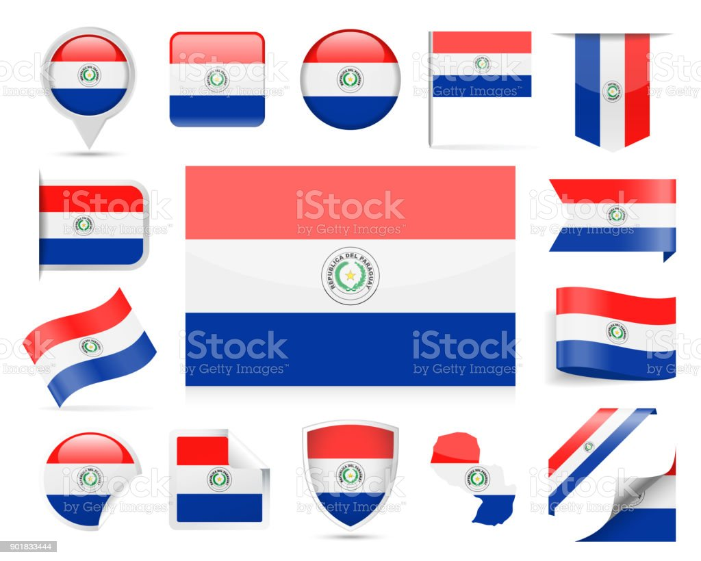Paraguay flag vector set stock vector art more images of award paraguay flag vector set royalty free paraguay flag vector set stock vector art amp buycottarizona