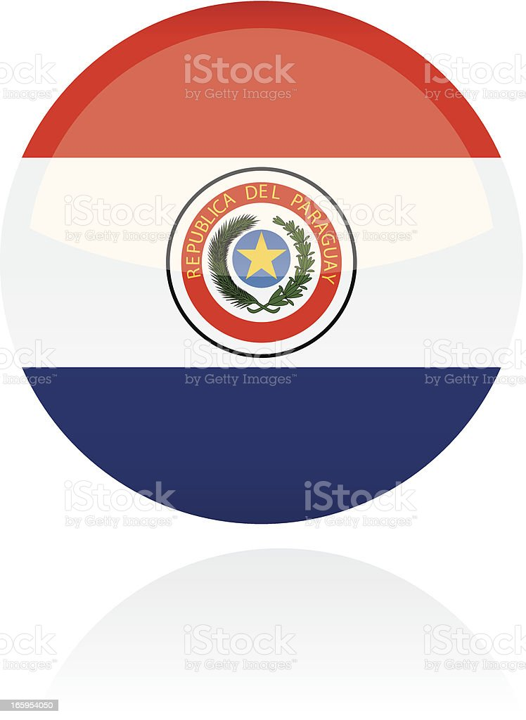 Paraguay, South American Flag Button royalty-free paraguay south american flag button stock vector art & more images of circle