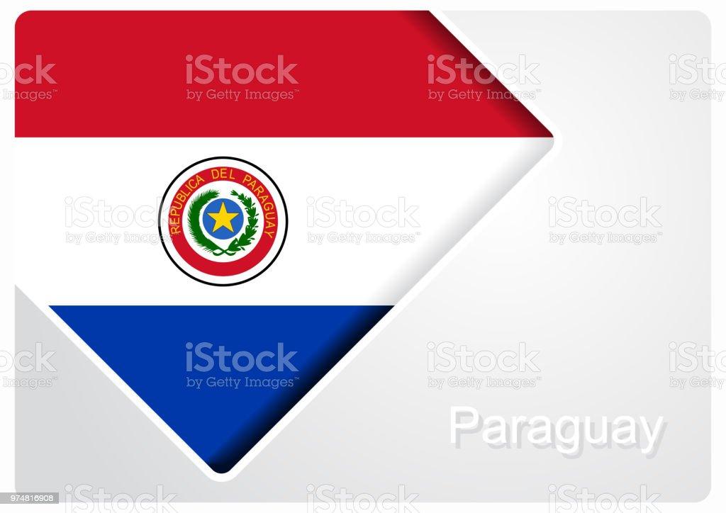 Bandera paraguaya diseño de fondo. Ilustración de vector. - ilustración de arte vectorial