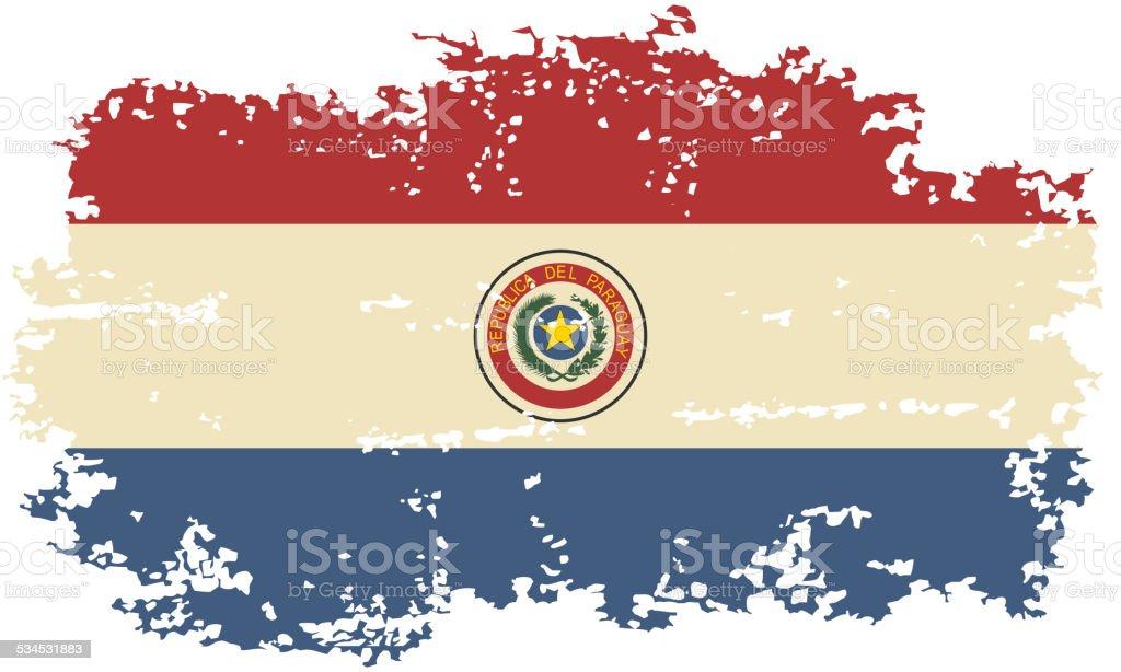 grunge de bandera paraguaya. Ilustración vectorial. - ilustración de arte vectorial