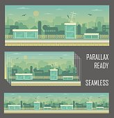 Parallax ready game industrial background
