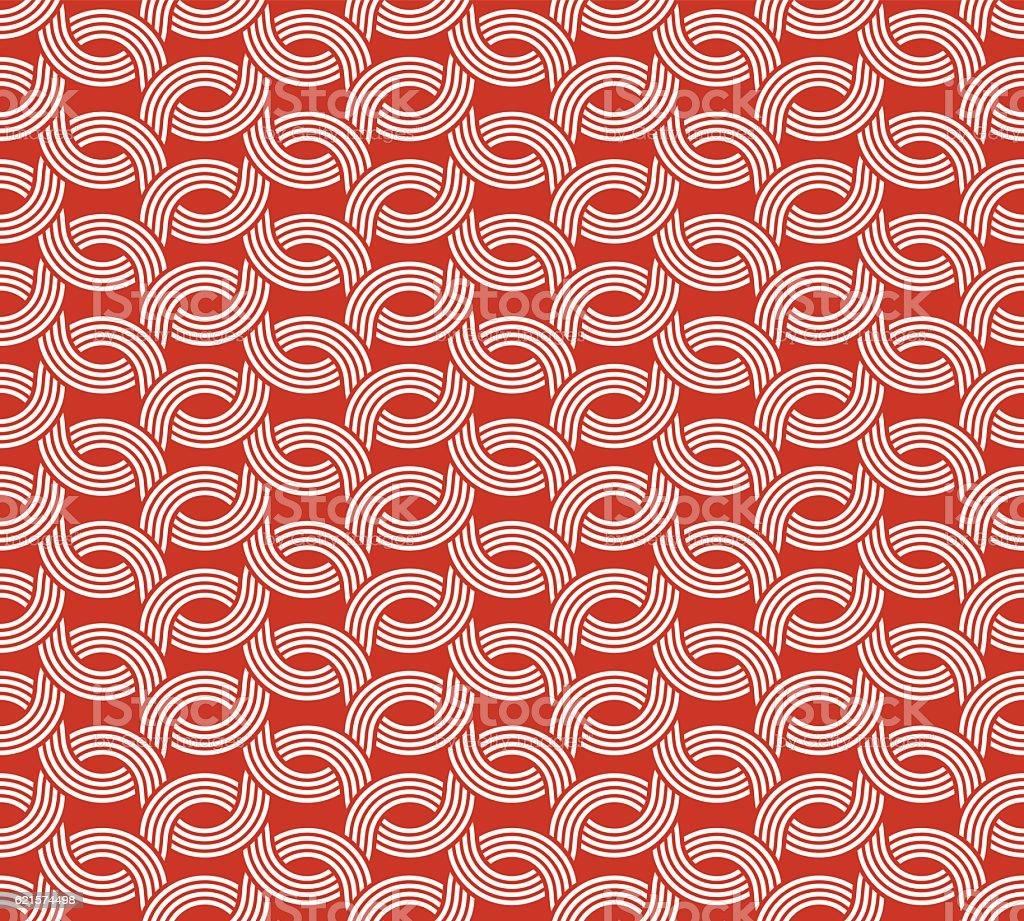 Parallel rounded weave lines seamless pattern. parallel rounded weave lines seamless pattern – cliparts vectoriels et plus d'images de abstrait libre de droits