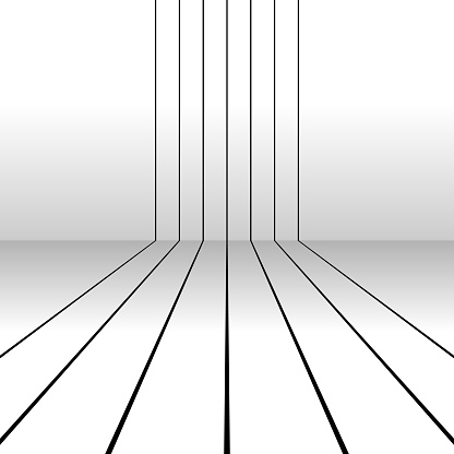 Parallel stripes, passing a corner like running tracks. Shadow effect.