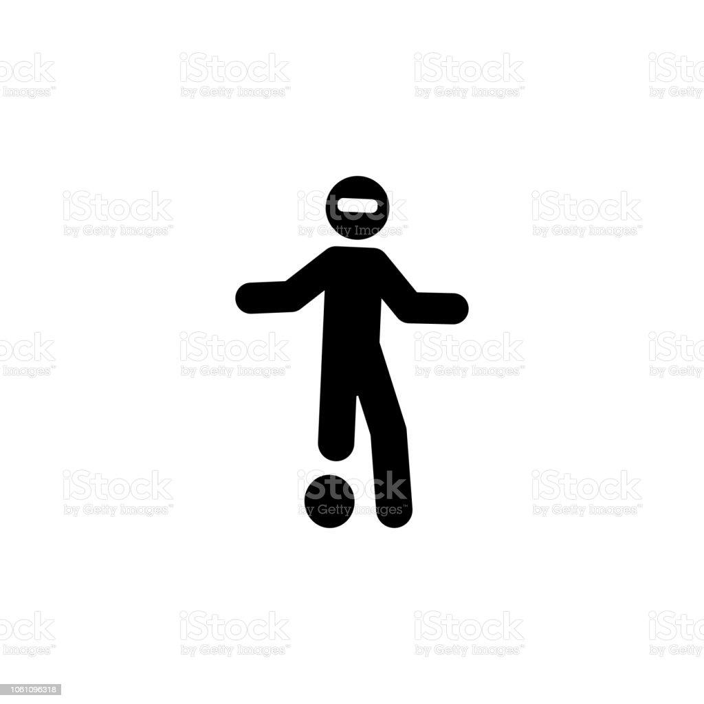 パラリン ピック、ボール、サッカーのアイコン。要素は人間スポーツ アイコン モバイルの概念と web アプリのために無効になります。パラリン ピック, ボール, サッカーの詳細な web や携帯� ベクターアートイラスト