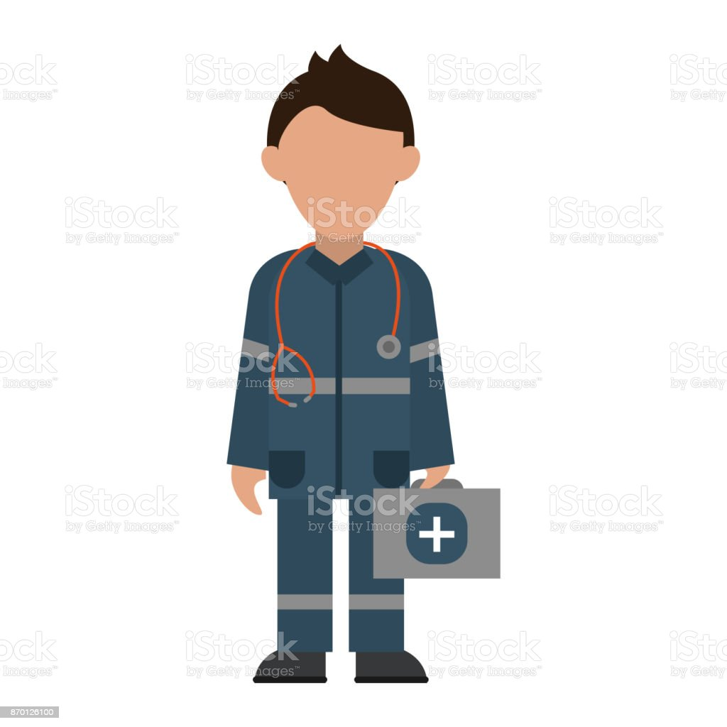 paramedic avatar icon image vector art illustration