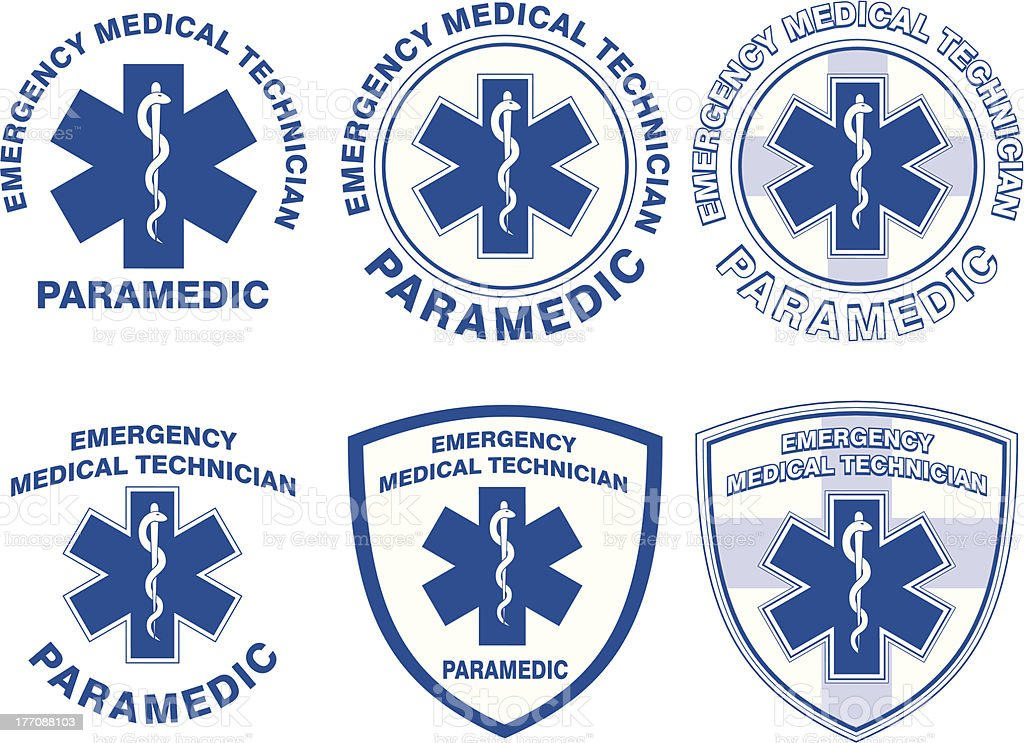 EMT Paramedic Medical Designs vector art illustration