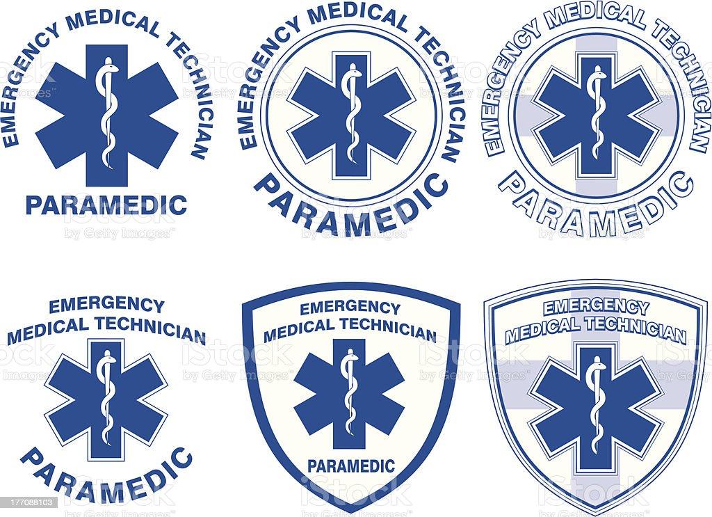 Médico EMT Paramédico Designs - ilustração de arte em vetor