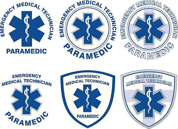 emt paramedic medical designs - first responders stock illustrations