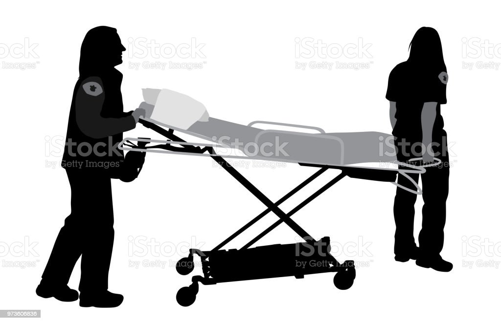 Paramedic Stretcher vector art illustration
