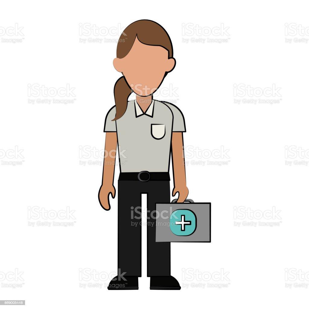 Sanitäter-Frau-Avatar-Symbol-Bild – Vektorgrafik