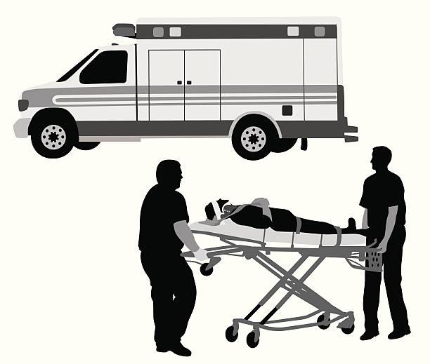 paramedics と患者 - 救急救命士点のイラスト素材/クリップアート素材/マンガ素材/アイコン素材