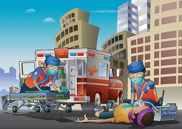 paramedics - 救急救命士点のイラスト素材/クリップアート素材/マンガ素材/アイコン素材