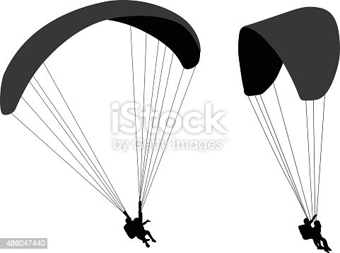 Parasailing Silhouettes