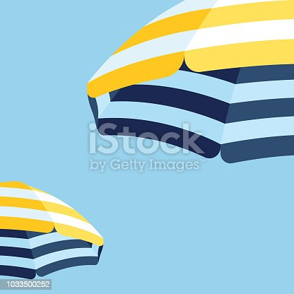 istock Parasol Beach Umbrella Background 1033500252