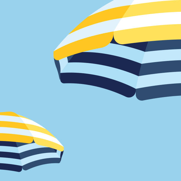 Parasol Beach Umbrella Background These illustrated beach umbrellas would make an ideal background for your summer design project. The illustrator 10 vector file can be coloured and customized to suit your needs and scaled infinitely without any loss of quality. summer stock illustrations