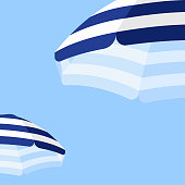These illustrated beach umbrellas would make an ideal background for your summer design project. The illustrator 10 vector file can be coloured and customized to suit your needs and scaled infinitely without any loss of quality.