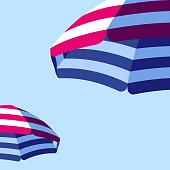 istock Parasol Beach Umbrella Background 1153224653