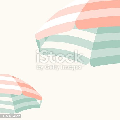 istock Parasol Beach Umbrella Background 1153224655