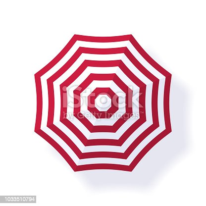 This illustrated beach umbrella would make an ideal design element for your summer design project. The illustrator 10 vector file can be coloured and customized to suit your needs and scaled infinitely without any loss of quality.