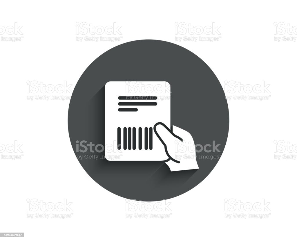 Parcel Invoice Simple Icon Delivery Document Stock Vector Art More - Get invoice simple