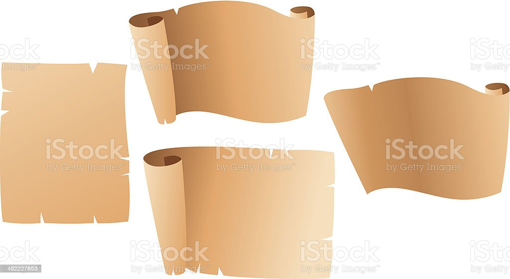 Parchment scroll vector art illustration
