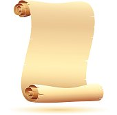 Parchment scroll. Each element is named,grouped and layered separately, simple gradients used. High Resolution JPG,CS5 AI and Illustrator 0.8 EPS included.