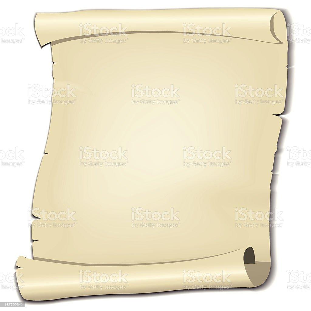 Parchment vector art illustration