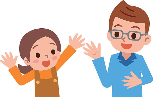 Best Parent And Child Talking Illustrations, Royalty-Free ...