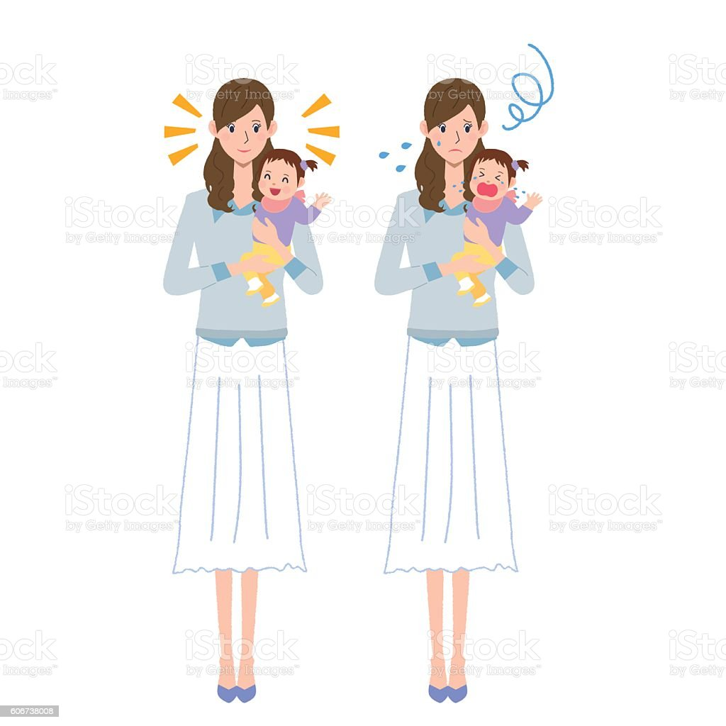 Parent and child vector art illustration