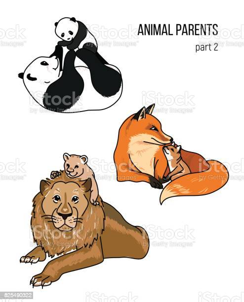 Parent and kid vector animals part 2 vector id825490322?b=1&k=6&m=825490322&s=612x612&h=zl54x0o19v67ik9qpbrwctrbfreuungxulciw10sahu=