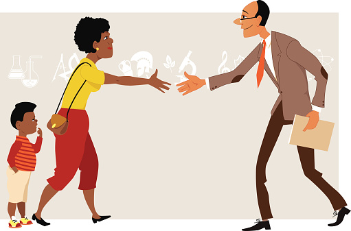 Parent meets a teacher