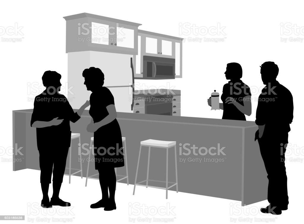 Die Eltern kommen zu Besuch – Vektorgrafik