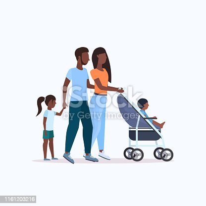 istock parents with daughter and toddler son in stroller walking outdoor african american family parenthood concept full length 1161203216