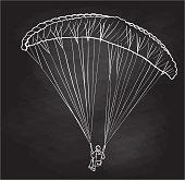 Man paragliding vector illustration sketch