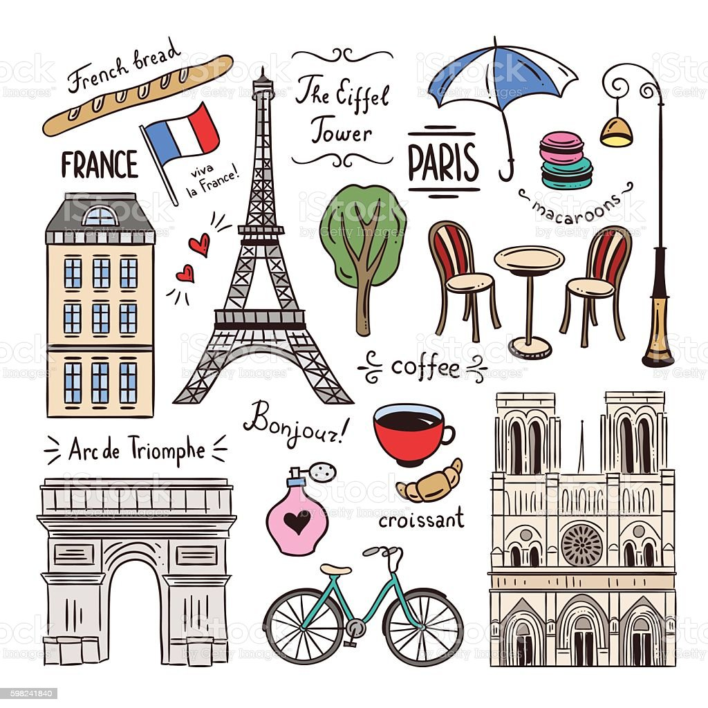 Paris and france hand drawn illustrations travel symbols stock paris and france hand drawn illustrations travel symbols royalty free paris and france hand biocorpaavc