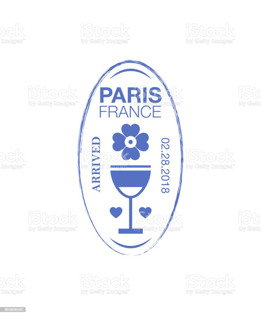 Paris arrival ink stamp on passport. royalty-free paris arrival ink stamp on passport stock vector art & more images of absence