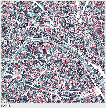 Paris art map background