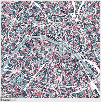 Paris art map background