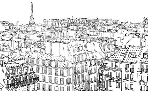illustrations, cliparts, dessins animés et icônes de paris dans la nuit - paris