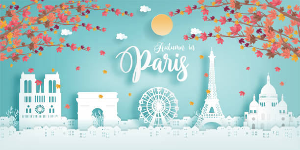 illustrations, cliparts, dessins animés et icônes de 16.5.2018 paris autumn1 - paris